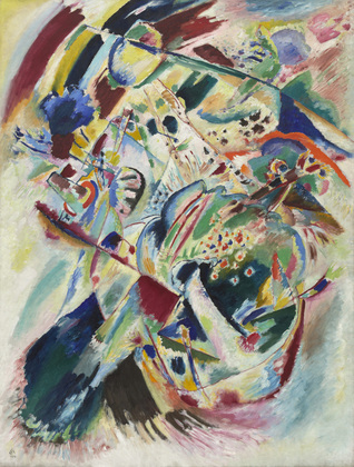 Kandinsky painting 1914 panel