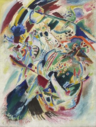 Kandinsky painting 1914 panel