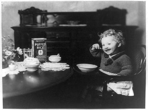 eating toddler