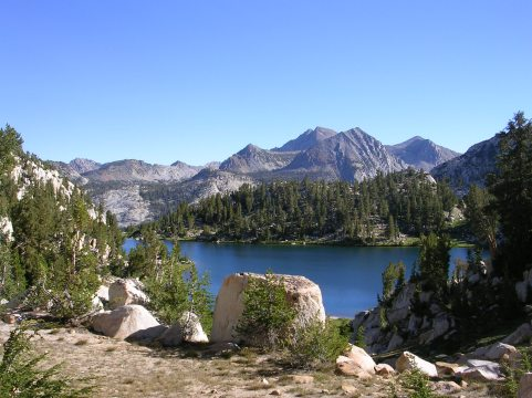 Sierra forest Lake_of_the_Lone_Indian_JMW